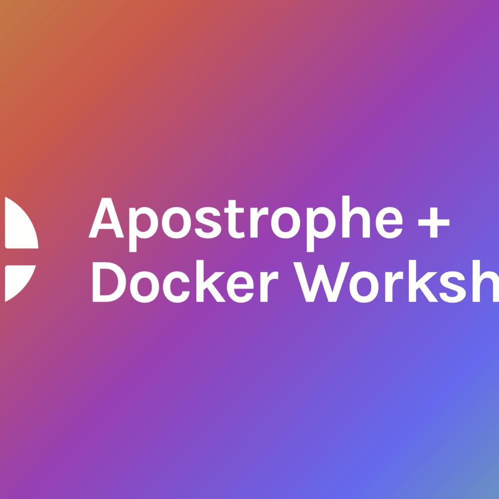 apostrophe docker