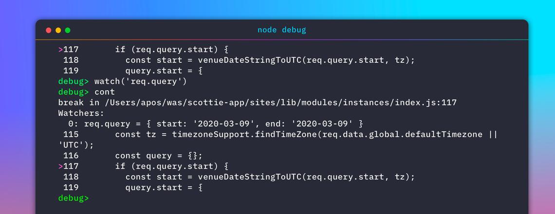 node debug