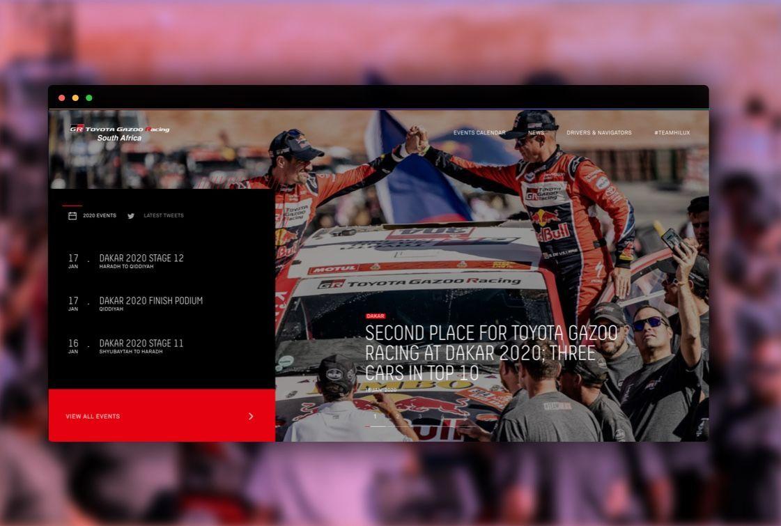 toyota racing site