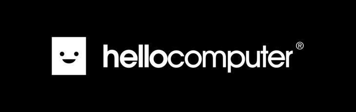 hellocomputer logo on black