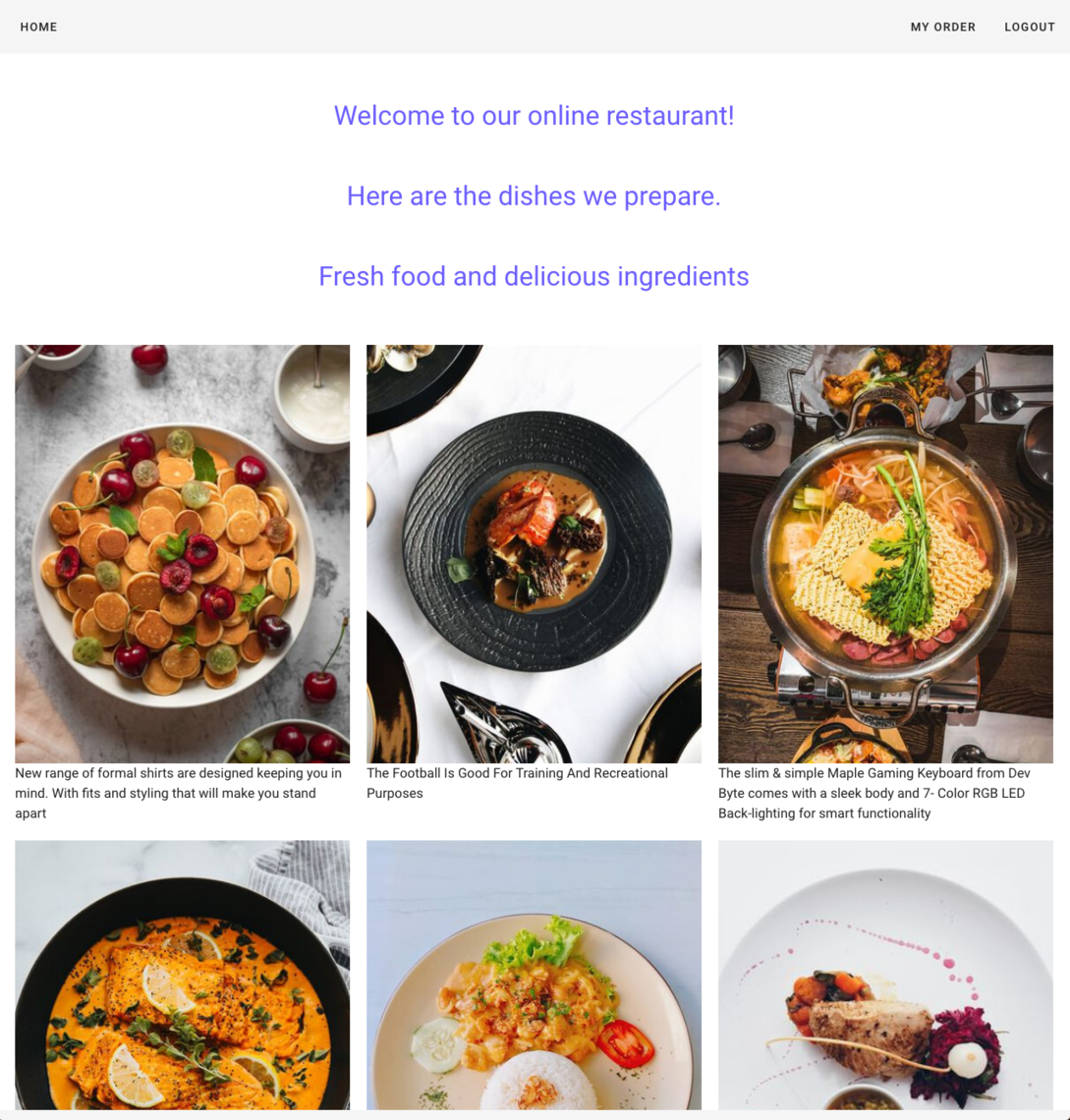 in context welcome restaurant menu in CMS