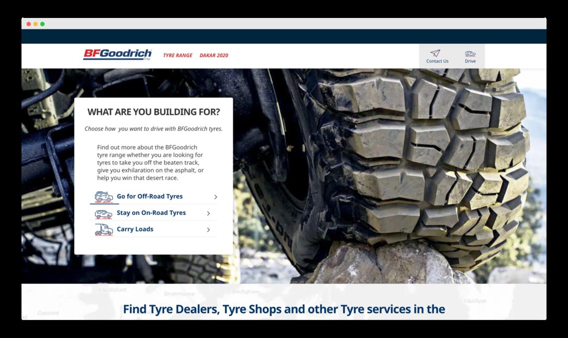 BF Goodrich enterprise website
