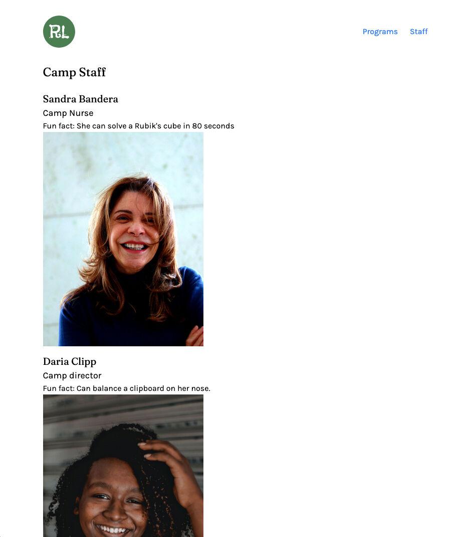 gatsby staff page