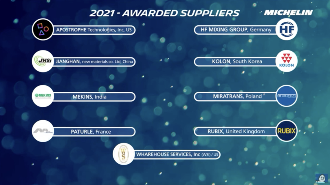2021 Michelin Awarded Suppliers